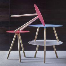 Pinocchio - Tavolino Miniforms in legno e metallo, diverse dimensioni disponibili