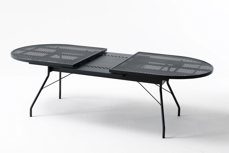 Rig33 tavolo allungabile in metallo diverse misure per for Tavoli in metallo per giardino