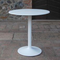 Piani Slim - Piano tavolo in Topalit, tondo o quadrato, diverse misure e colori, anche per esterno