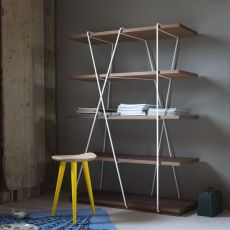 Matassa - Ground bookcase Miniforms in metal and wood