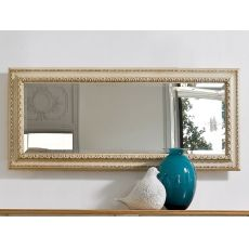 Altair 4961 - Tonin Casa rectangular mirror with classic wooden frame, different finishes available