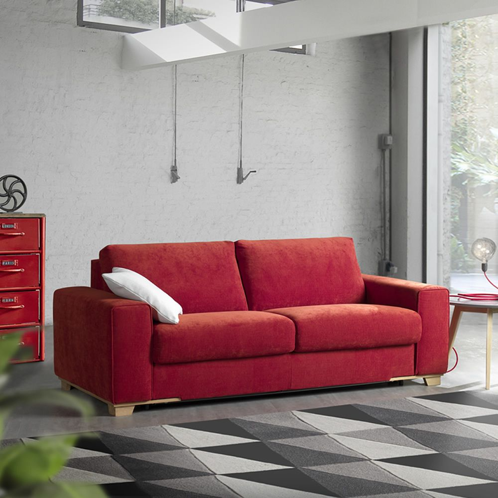 Mughetto 2 3 or 3xl seaters sofa bed totally removable for Divan bed feet