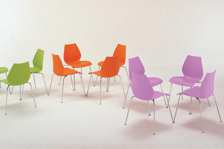 Maui c sedia kartell di design in metallo impilabile con o senza