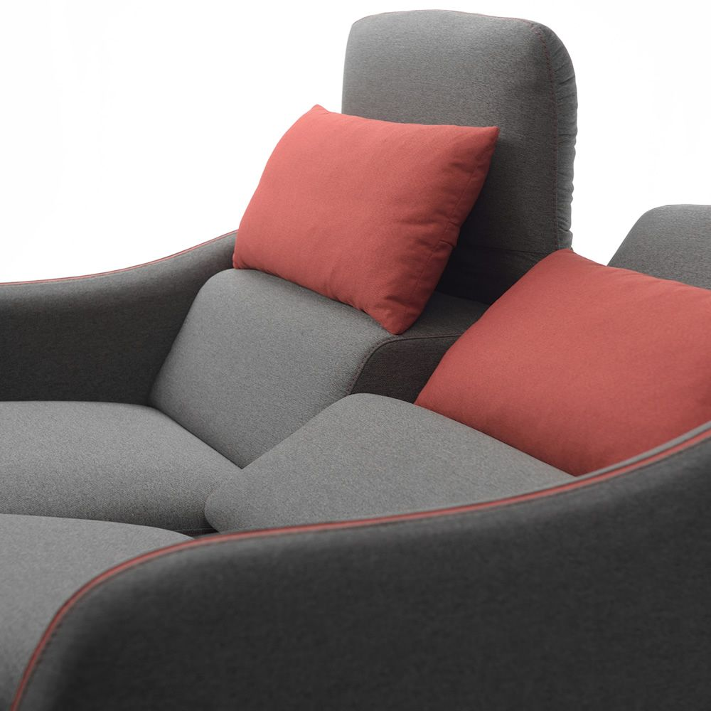 trifoglio r 2 or 3 seaters sofa different upholsteries. Black Bedroom Furniture Sets. Home Design Ideas