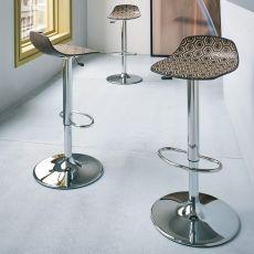 Alhambra SC - Sgabello di design in metallo e tecnopolimero, girevole e regolabile in altezza, disponibile in diversi colori