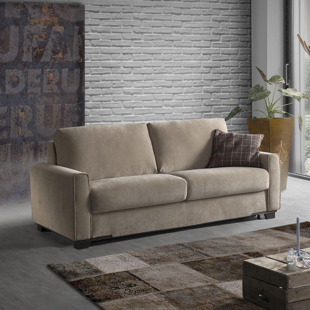 Mughetto divano letto a 2 3 posti o 3 posti xl completamente sfoderabile diversi - Divano letto doghe in legno ...
