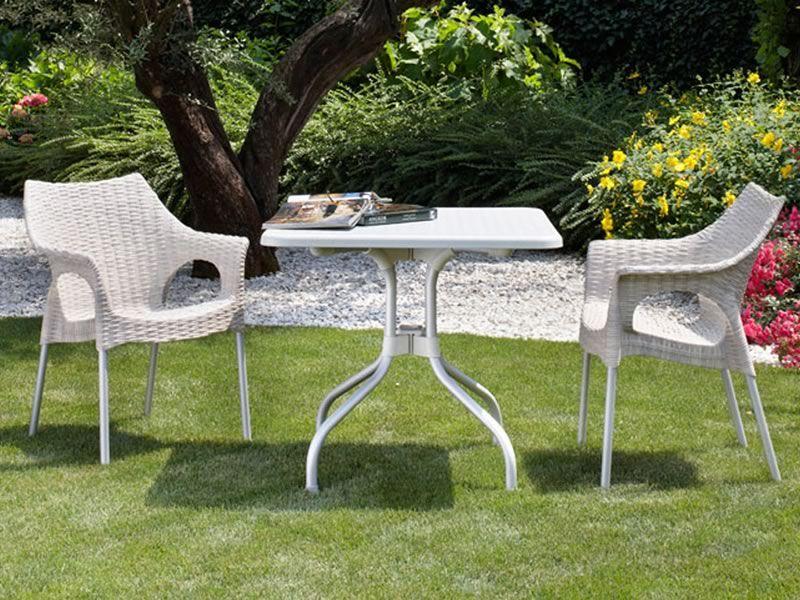 Olimpo 2197 mesa de jard n de aluminio y polipropileno for Jardines de olimpo
