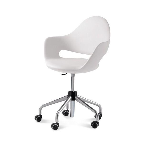 Soft d chaise de bureau domitalia en m tal assise en - Chaise de bureau reglable en hauteur ...