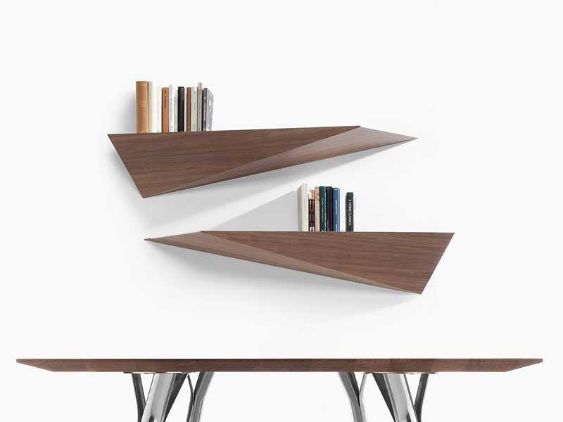 prisma shelf mensola moderna di tonon bianca o noce ForMensole In Noce