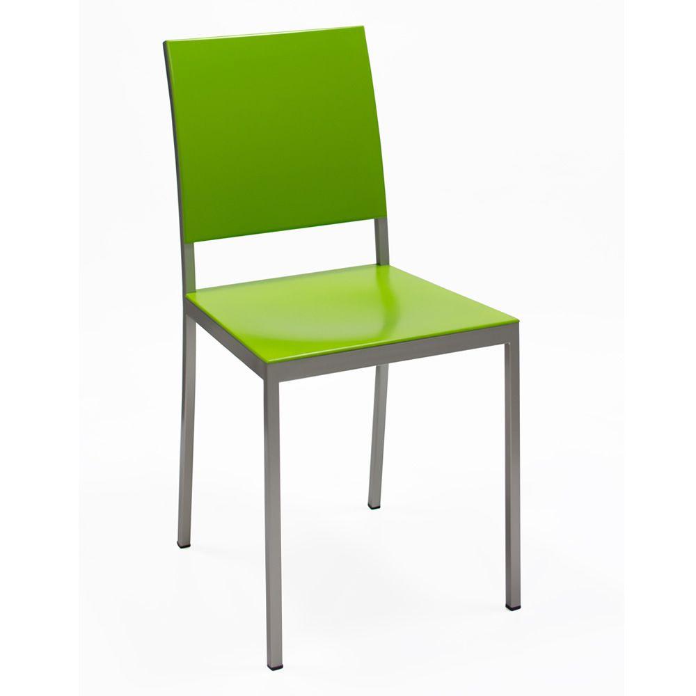 372 sedia in metallo con seduta e schienale laccato for Sedia e maschile o femminile