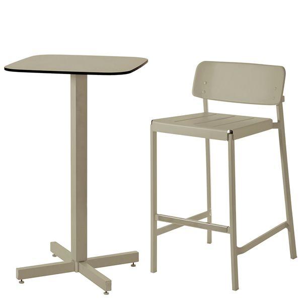 shine h per bar e ristoranti tavolo alto in alluminio piano quadrato 60x60 cm per esterno. Black Bedroom Furniture Sets. Home Design Ideas