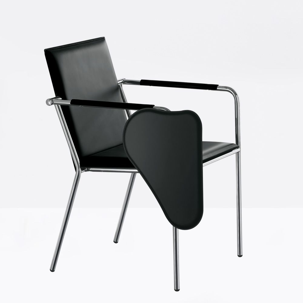 vivo cu chaise avec accoudoirs midj en m tal et cuir disponible avec tablette sediarreda. Black Bedroom Furniture Sets. Home Design Ideas