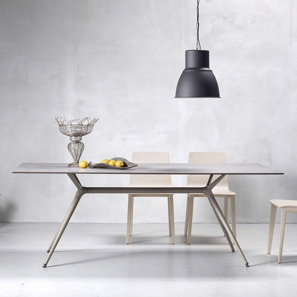 metropolis xl 2430 tavolo rettangolare di design fisso