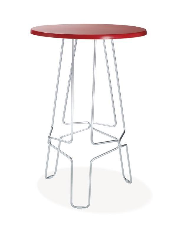 ferzo pour bars et restaurants table haute en m tal plateau en hpl ou werzalit disponible en. Black Bedroom Furniture Sets. Home Design Ideas