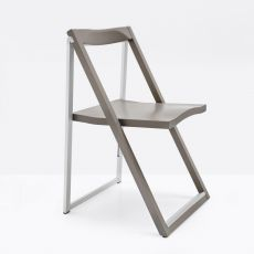CB207 Skip - Connubia - Calligaris folding chair, in wood and metal