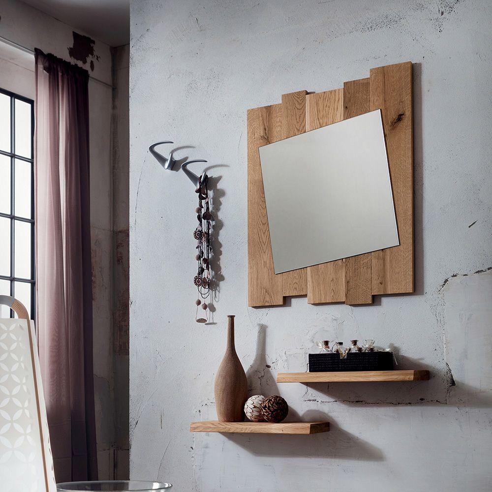 Pa4130 specchio con cornice in rovere disponibile in due dimensioni sediarreda - Specchio ingresso design ...