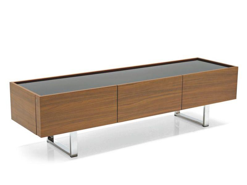 Cs6017 3 horizon meuble bas porte tv calligaris en bois for Meuble calligaris