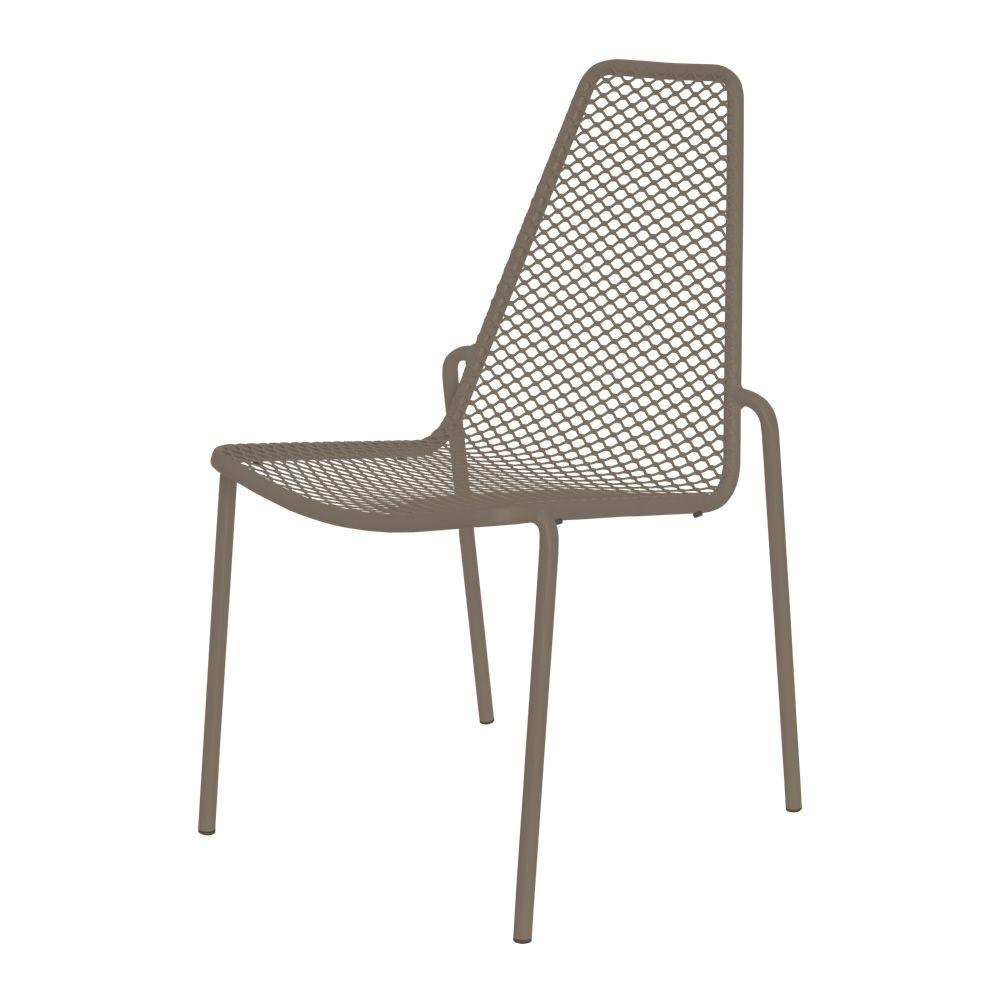 Rada silla apilable de metal con o sin reposabrazos - Silla metalica apilable ...