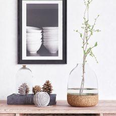 Pitaro - Vaso di design in vetro e sughero, disponibile in diversi colori