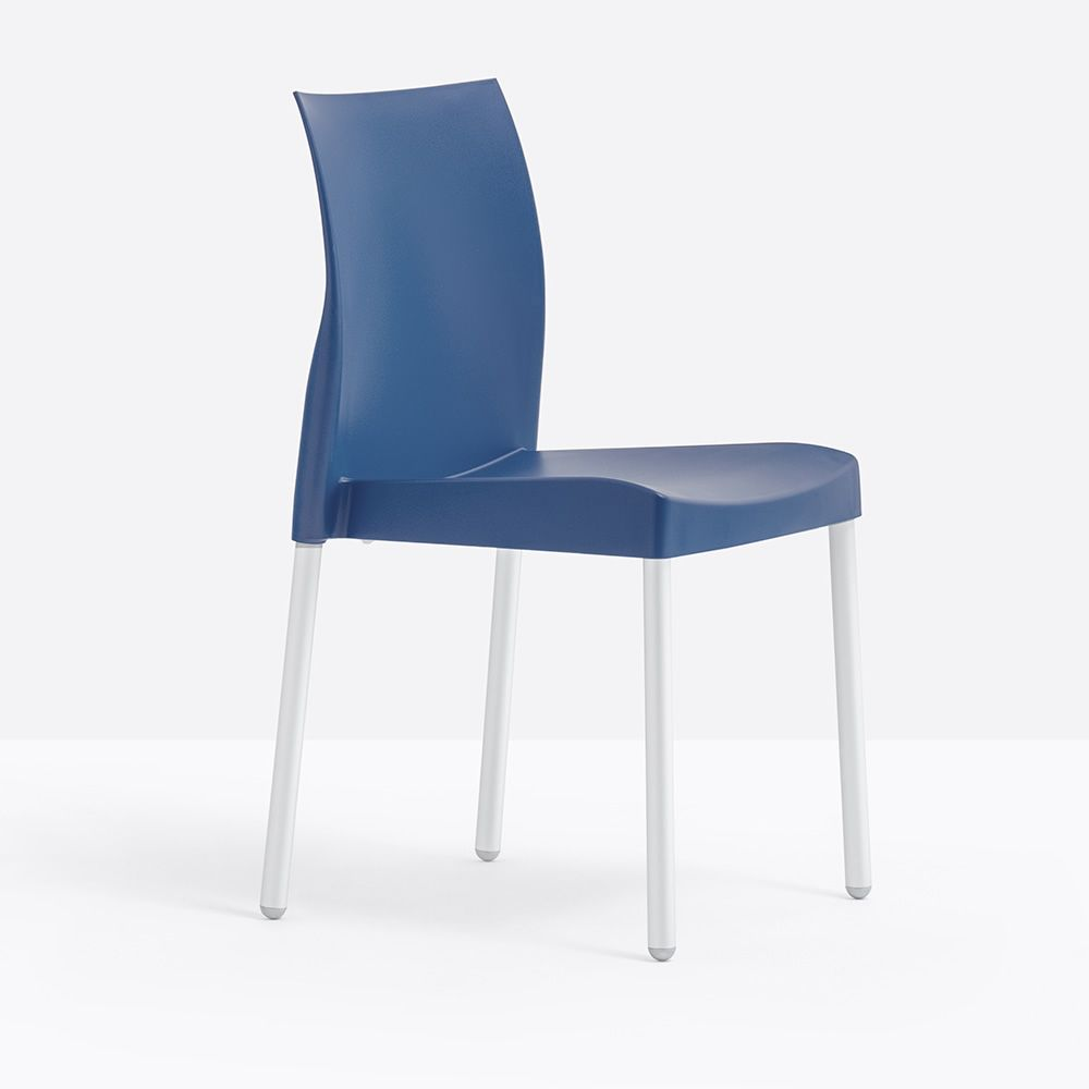 Ice 800 pour bars et restaurants chaise pour bar y restaurant en aluminium et polypropyl ne for Chaise bar couleur