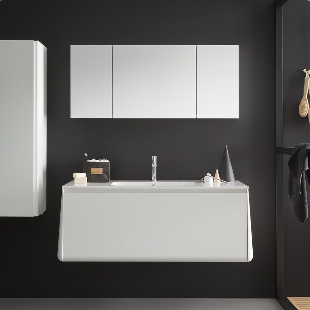 Campus b mobile bagno sospeso con lavabo integrato in for Cassettone bagno