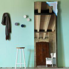 Breccia - Specchio rettangolare Miniforms, con angolo retroilluminato a led, disponibile in diversi colori e misure