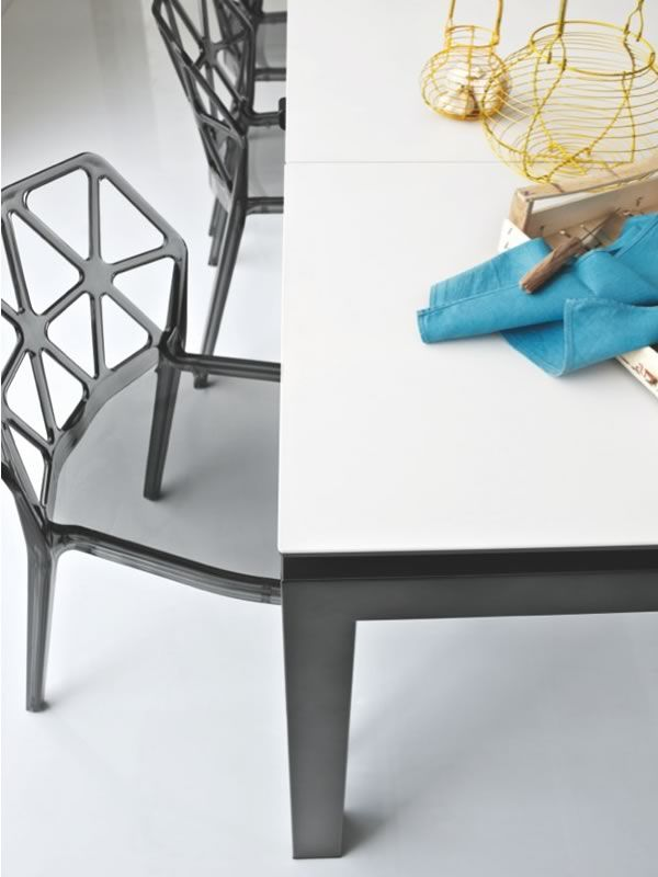 Cb4011 airport connubia calligaris metal table glass for Calligaris airport