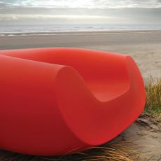 Chubby - Poltrona lounge Slide, in polietilene, diversi colori, anche per giardino