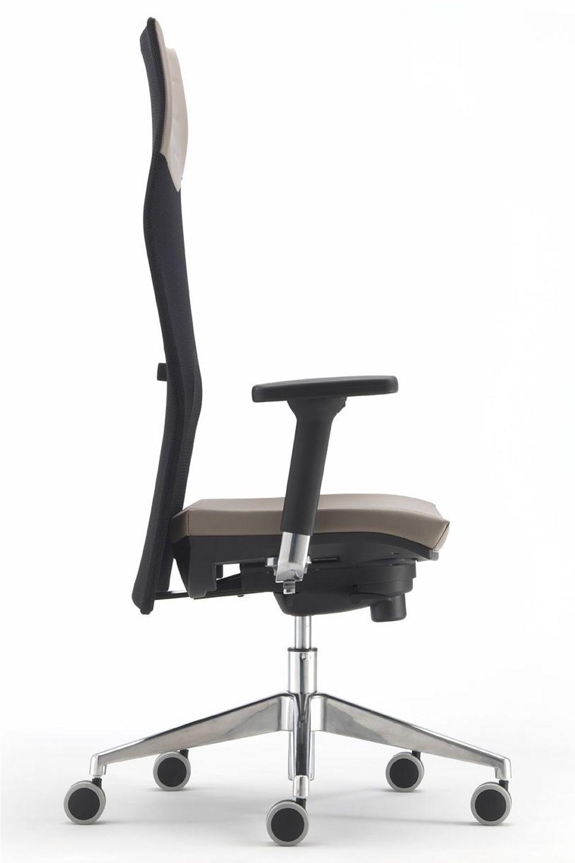 ML496 - Sedia operativa da ufficio, schienale alto in rete ...
