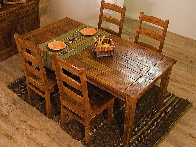 Prado t2 tavolo in legno disponibile in diverse misure for Tavolo rustico legno