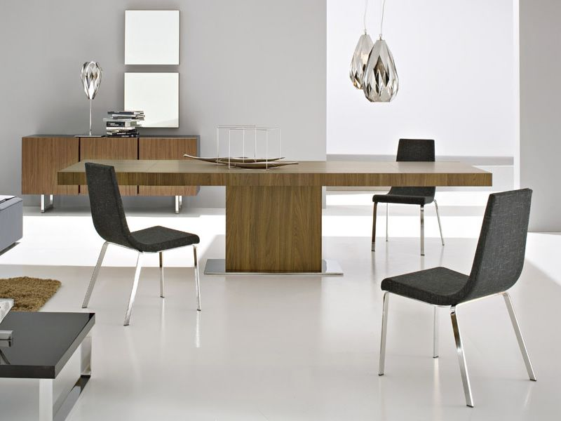 CS4039-R Park | Extendable table made of veneered wood, walnut finish, matched with CS1095 Cruiser chairs