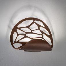 Kelly - Lampada a parete di design, in metallo, con luce LED, disponibile in diversi colori