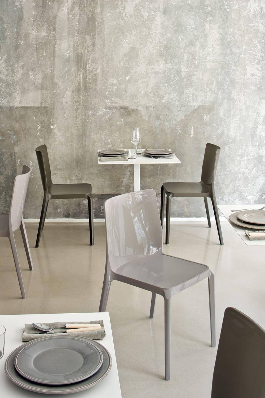 Blitz 640 silla pedrali de policarbonato apilable - Sillas de policarbonato ...