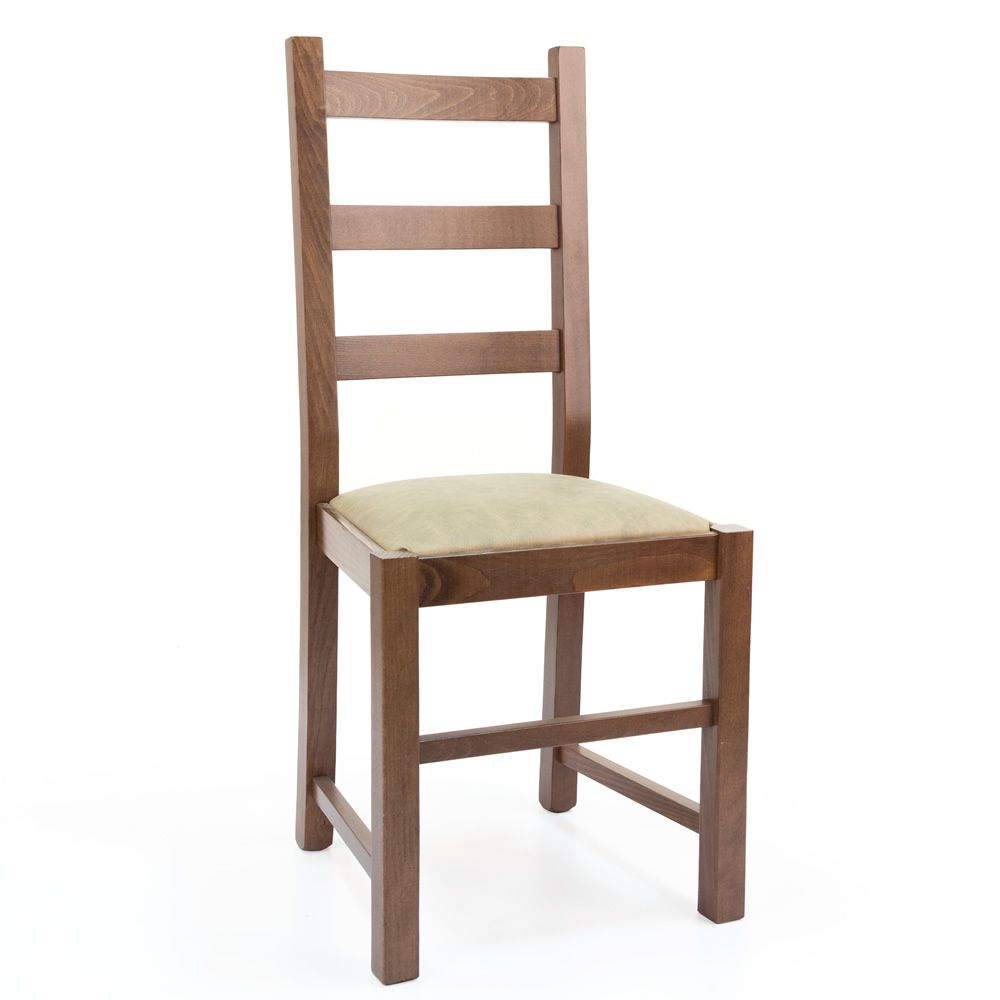 Mu82 country style chair in wood different dyes for Types of wooden chairs