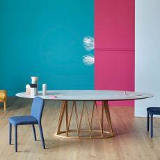 Acco LC - Tavolo Miniforms in legno, piano in ceramica, diverse dimensioni disponibili