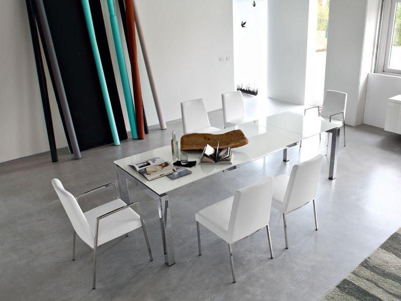 Airport One Tisch ~ CB4011 Airport Metalltisch Connubia  Calligaris, Platte aus Glas oder Keram