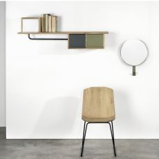 Hats & Coats - Universo Positivo shelf - coat rack made of wood and metal