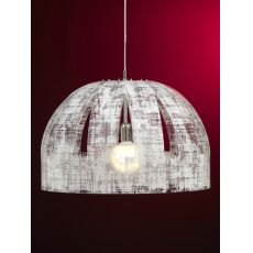 Cupolone - Suspension lamp with anti-reflective lampshade, in polycarbonate