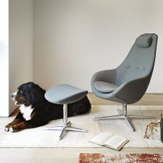 Kokon - Variér ergonomic and swivel armchair with footrest