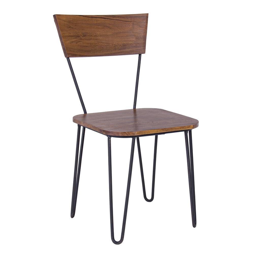 Nairobi - Sedia di design vintage, in metallo con seduta e schienale ...