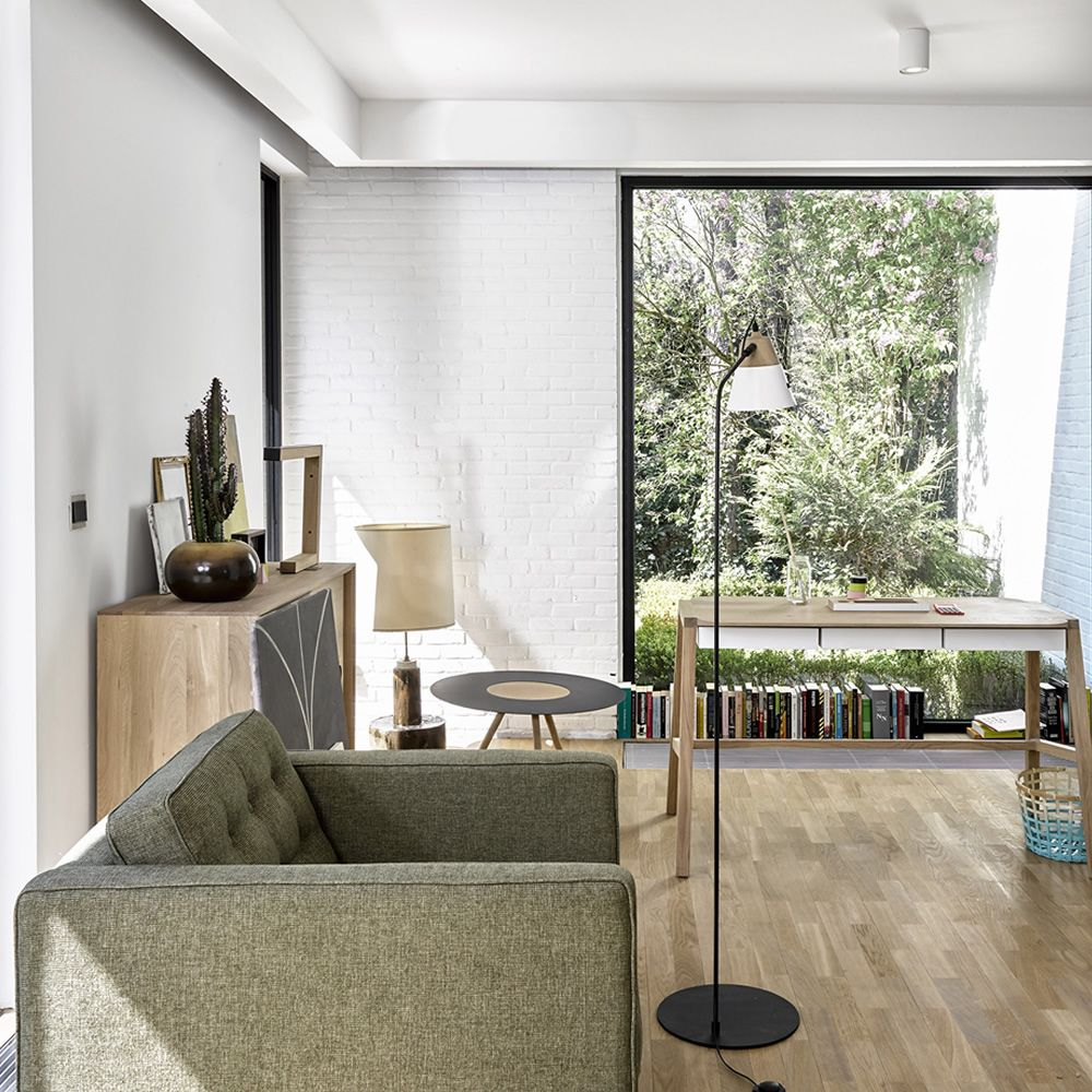 Cone F Universo Positivo Floor Lamp Made Of Wood And Metal  # Meuble Tv Universo Positivo