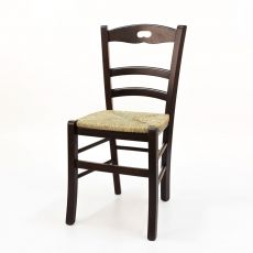125 - Country style chair in wood for bar and restaurant, with seat  in wood, in straw or upholstered, available in several types of finishes, all customizable