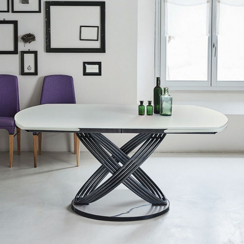 Fusion b tavolo di design di bontempi casa in metallo for Tavolo salone