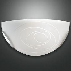 FA3061P - Lampada da parete in metallo e vetro, diversi colori disponibili