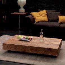 Box legno - Tavolo trasformabile in metallo, piano 120x75 cm, allungabile, disponibile in diverse finiture