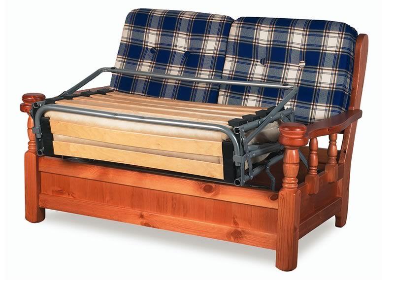 Tirolo divano letto sof cama r stico de madera con for Sofa cama de 2 plazas