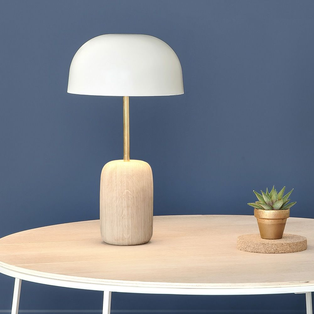 Nina table led lamp in wood and metal led sediarreda online sale nina table lamp in wood and metal geotapseo Gallery