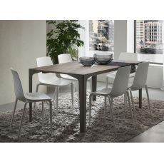 PA125A | Tavolo allungabile in metallo, piano in diverse finiture e misure