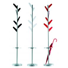 Indaco - Coat hanger made of metal and methacrylate, different colours available, with umbrella stand