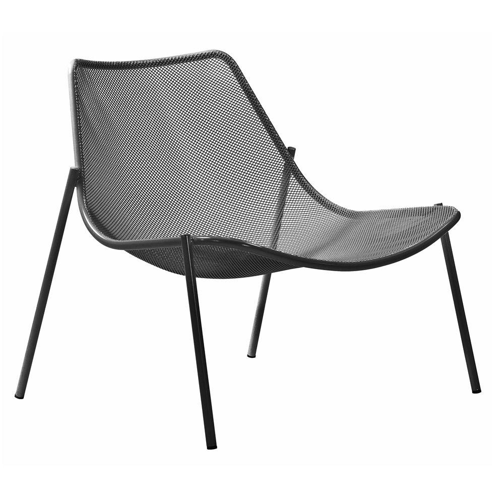 Round c chaise longue emu en m tal pour jardin for Chaise longue speciale